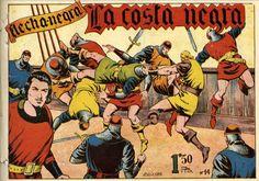 """LOS VIERNES TEBEOS """"La costa negra"""" de la serie """"Flecha negra"""". Es una colección mítica del catálogo del tebeo autóctono. Uno de los grandes personajes salidos de la pluma del maestro Boixcar. Esta colección es una joya de coleccionista, ya que apenas se conocen tres o cuatro series completas."""