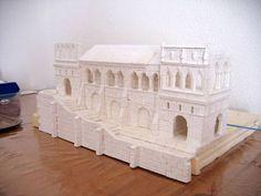 Escenografia sobre los edificios de Minas Tirith.