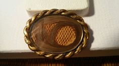 Victorian Gold Filled Hair Mourning Brooch Needs Repair