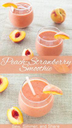 Peach Strawberry Smoothie | YouShouldCraft.com #breakfast #paleo