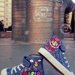 Fanart.es  Zapatillas pintadas a mano / Super Mario www.fanart.es