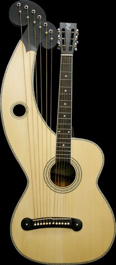 Harp guitar... I inherited one of these from my grandfather. Pretty cool!