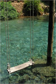 "I put this under ""Dream Home"" b/c maybe I will have a home with blue water just like that near by, and I could hang a swing over….."