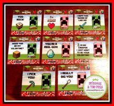 Minecraft Printable Valentine Cards-valentine's day, valentine cards, minecraft