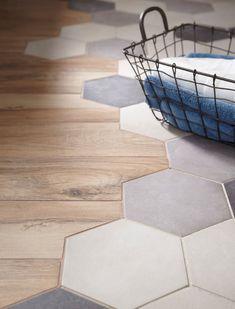 Decor, Hexagon Tiles, Transition Flooring, Octagon Tile, Deco, House Interior, Home Deco, Flooring, Trending Decor