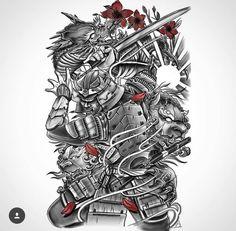This piece is 🔥 By 👈🏼💦 Warrior Tattoo Sleeve, Samurai Tattoo Sleeve, Samurai Warrior Tattoo, Egyptian Tattoo Sleeve, Warrior Tattoos, Dragon Tattoo Art, Dragon Sleeve Tattoos, Forearm Sleeve Tattoos, Best Sleeve Tattoos