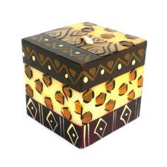 Hand-Painted Cube Candle - Uzima