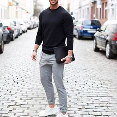 New Ideas Moda Masculina Casual Fashion Street Styles Mens Fashion Blog, Sport Fashion, Men's Fashion, Mens Fashion Outfits, Mens Office Fashion, Fashion Black, Fasion, Smart Casual, Men Casual