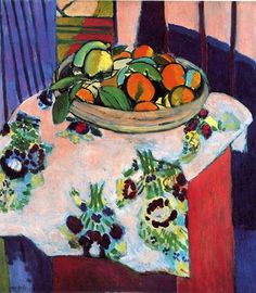 Henri Matisse - Basket of Oranges, oil on canvas. Matisse so proud when Picasso bought it in Henri Matisse, Matisse Kunst, Matisse Art, Matisse Prints, Raoul Dufy, Matisse Pinturas, Maurice De Vlaminck, Matisse Paintings, Oil Paintings