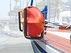 Rail Mounted Kayak Rack for Boats Kayak Boats, Kayak Camping, Kayak Cart, Kayak Storage Rack, Storage Cart, Wireless Backup Camera, Sailboat Living, Kayak Accessories, Build Your Own Boat