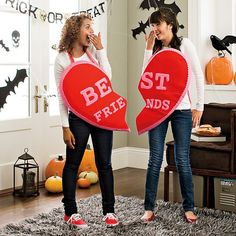 bff halloween costumes for teens diy - SASKİA Halloween Costumes For Bffs, Best Friend Halloween Costumes, Cute Costumes, Halloween Costumes For Girls, Costume Ideas, Diy Halloween, Group Halloween, Halloween 2019, Halloween Makeup