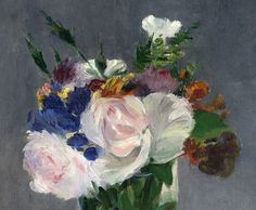 Édouard Manet (French, 1832–1883), 'Flowers in a Crystal Vase' (detail) about 1882. Oil on canvas; 12-7⁄8 × 9-5⁄8 in. National Gallery of Art, Washington, D.C., Ailsa Mellon Bruce Collection