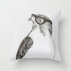Hawk+with+Poor+Eyesight+Throw+Pillow+by+Phil+Jones+-+$20.00