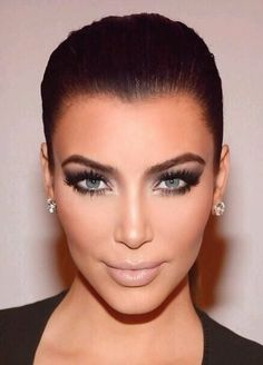 Kim Kardashian makeup look! #eyemakeup #eyeshadow #smokyeye - bellashoot.com