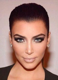 Kim Kardashian makeup look! #eyemakeup #eyeshadow #smokyeye - bellashoot.com