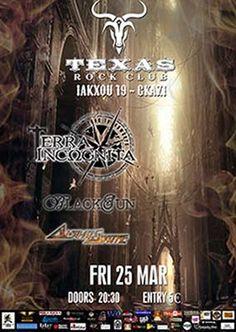 TERRA INCΩGNITA, BLACKSUN, ALPHASTATE: Παρασκευή 25 Μαρτίου @ Τexas Rock Club