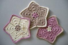 Little Star Washcloths - Set of Three Soft Cotton Washcloths - Rose, Ivory, Taupe
