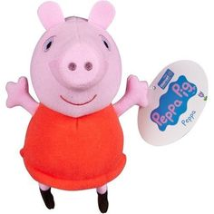 "Peppa Pig 7"" Exclusive Plush Doll in Red Dress Fisher-Price ~ New with Tags!! ~  #FisherPrice"