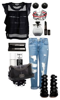"""""""black in summer"""" by alenka-flower ❤ liked on Polyvore featuring Frame Denim, Étoile Isabel Marant, Uslu Airlines, shu uemura, American Eagle Outfitters, NYX, Kenneth Jay Lane, Chanel and 10 Crosby Derek Lam"""