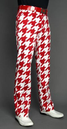 Loudmouth Golf Men's Pants - Red Tooth