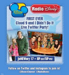 """Cloud 9″ And ""I Didn't Do It"" Casts Taking Over Radio Disney's Twitter January 17, 2014"