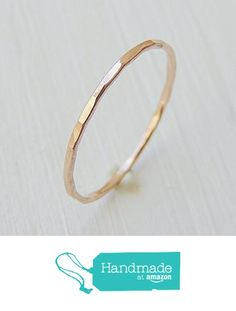 Rose Gold Ring, Stacking Ring, Delicate Stack Ring, 14k Gold Ring, Stackable Ring, Midi Ring, Pinky Ring, Solid Gold Ring, Wedding Ring, tiny sizes US 1 - 3.75 from Luxuring http://www.amazon.com/dp/B016MYD0LI/ref=hnd_sw_r_pi_dp_35Ckwb0122VTQ #handmadeatamazon