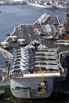 U.S. Navy aircraft carrier USS Ranger (CV-61) - 1992 t.me/airforceeagles facebook.com/skyeagless/ facebook.com/groups/1756968847949115/ instagram.com/skyeagless/ twitter.com/skyeagless youtube.com/channel/UCq3i5OMVZPd0AO4QLtOA5Tw Us Navy Aircraft, Navy Aircraft Carrier, Military Jets, Military Aircraft, American Aircraft Carriers, Navy Coast Guard, Model Warships, Us Navy Submarines, Navy Carriers