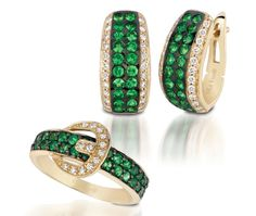 Bring on the green! It's the new color for 2013. Get started now with these great looks in Forest Green Tsavorite