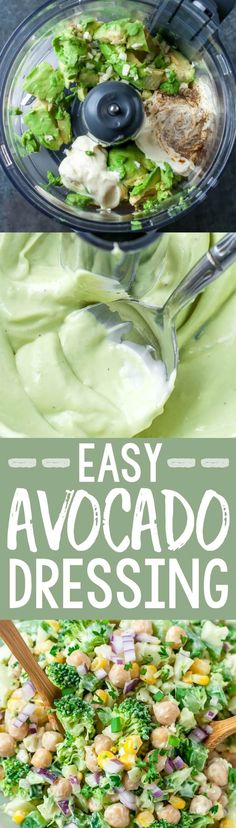You'll want to pour this creamy avocado dressing on everything in sight!