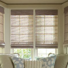 Levolor Roman Shades: Tweed Rattan and Lemongrass Weaves contemporary roman blinds