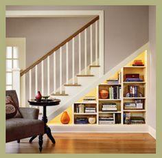 Under Stair Storage Ideas 24 (Under Stair Storage Ideas design ideas and pho Understairs Storage Design Ideas Pho Stair storage Stair Bookshelf, Staircase Storage, Stair Storage, Staircase Design, Balustrade Design, Basement Storage, Bedroom Storage, Book Stairs, Bookcase Door