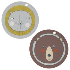 OYOY+Round+Animal+Placemats