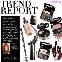 Avon Global Celebrity Makeup Artist Lauren Andersen shares which trends ruled the #NYFW runway!  www.youravon.com/lezstep #AvonRep #Avon