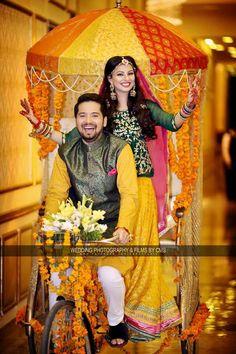 Wedding Dress Men, Pakistani Wedding Dresses, Bridal Dresses, Mehndi Outfit, Mehndi Dress, Bride Entry, Storybook Wedding, Mehndi Decor, Punjabi Bride