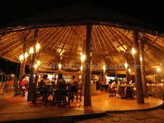 Open-air restaurant on the beach with seaview @ Peter Pan Resort (Koh Kood, Thailand)