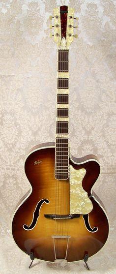 rare guitars | Vintage Hofner Archtop Acoustic Guitar | Vintage Archtop Guitar