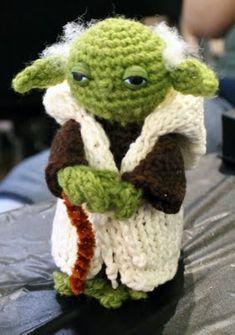 Crocheted Yoda