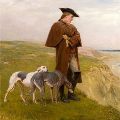 Briton Riviere - An Exile Of The '45