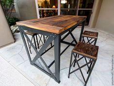 """Купить Деревянный стол """"Арман"""" в стиле лофт. 800*1200мм. Покупайте с последней Осенней скидкой 7% только до 01-12-17!"""