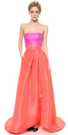 Monique Lhuillier Draped Ball Skirt | SHOPBOP