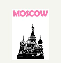 Moscow Print // Russian Art Print // Moscow Poster // Russian Gift // Moscow Art // Russian Poster // Russian Print // Gift for Friends Skull And Crossbones, Russian Art, Advertising Poster, Map Art, Travel Posters, Vintage Advertisements, Vintage Posters, Gifts For Friends, Art Prints