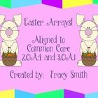 Easter Arrays! – Aligned to Common Core 2.OA.4 and 3.OA.1  This packet can be used as a class lesson or used as a math center.  It includes detaile...