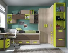 Bed room design though Small Room Bedroom, Small Rooms, Bedroom Decor, Bed Room, Kids Bedroom Designs, Bunk Bed Designs, Small Room Design, Kids Room Design, Chambre Nolan