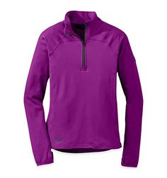Outdoor Research Womens Radiant Light Zip Top UltravioletNight Large *** To view further for this item, visit the image link.(This is an Amazon affiliate link and I receive a commission for the sales)