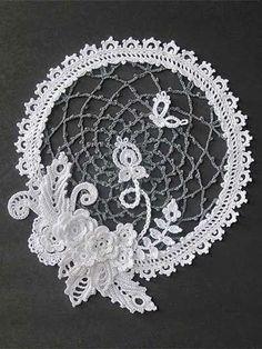 Irish crochet &: Мотивы для Ирландского кружева. Цветы. Без схем.