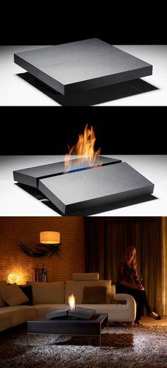 Fireplace Designed With Porshe Design Studio