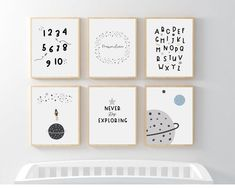 Nursery ideas for space nursery from Sunny and Pretty. Beautiful personalized space nursery wall art featuring your baby boy's name. Nursery art and nursery prints to complete your nursery decor project. Our nursery wall art is made with love and is designed to reflect your nursery wall decor style. 🖤 Get excited about decorating for your little one! #sunnyandpretty Outer Space Nursery, Space Themed Nursery, Nursery Themes, Nursery Ideas, Nursery Decor, Nursery Drawings, Nursery Artwork, Nursery Paintings, Nursery Prints