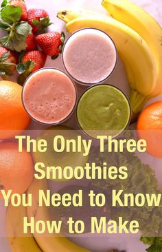 3 Basic Delicious Awesome Smoothies