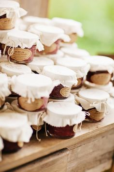 Edible favors are nothing new, but these perfectly packaged strawberry and rhubarb jam favors have a gorgeous backstory that makes them truly unique. The preserves were homemade by the bride's...