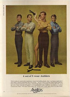 Men's fashion 1950's